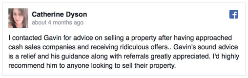 Cash house buyer review - Catherine Dyson