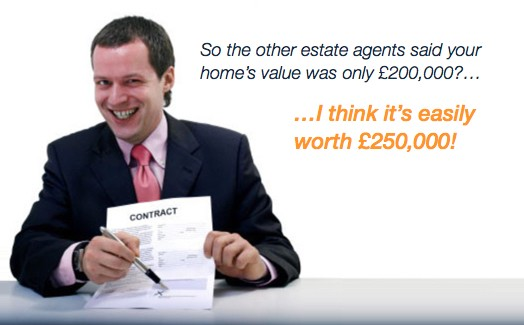 Estate Agent Valuation Bidding War