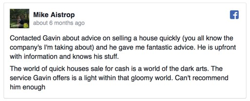 quick buyers reviews Mike Aistrop